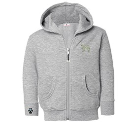 2CY-Great Pyrenees Toddler Hooded Full-Zip