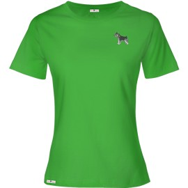 1TL-Schnauzer Ladies Scoopneck Embroidered T-Shirt