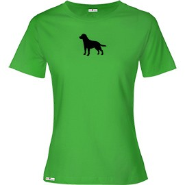 1TL-Ladies Scoopneck T-Shirt with Silhouette of your breed.