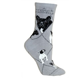 4AL-French BullDog Cotton Ladies Socks