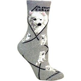 4AL-American Eskimo Cotton Ladies Socks