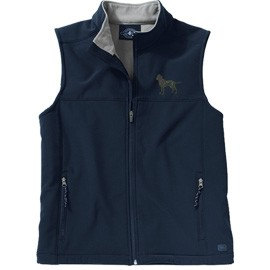 2FL-Labrador Black Ladies' Soft Shell Vest, Bone Zipper Pull and Embroidered image