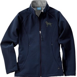2ML-Women's Ultima Soft Shell Jacket with Embroidered image, & Bone Zipper Pull.