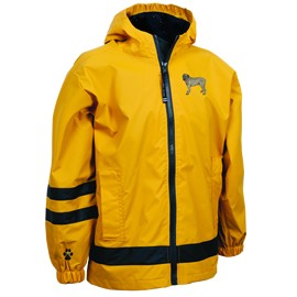 2PY-English Mastiff Children's New Englander Rain Jacket Rain Jacket