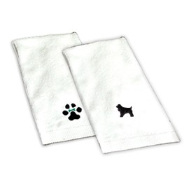 8H-Cocker Spaniel Black Hand Towel