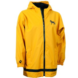 2PY-German Shepherd Youth New Englander Rain Jacket