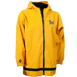 2PY-Cairn Terrier Youth New Englander Rain Jacket