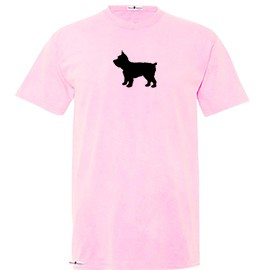 1TY-Yorkie Youth Pigmented Dyed T-shirt with Silhouette