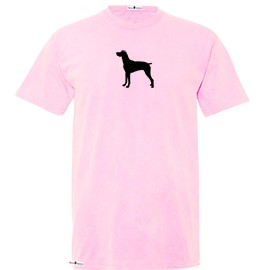 1TY-German Short-Haired Pointer Youth Pigmented Dyed T-shirt with Silhouette