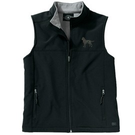 2FM- Men's Soft Shell Vest, Bone Zipper Pull and Embroidered image.