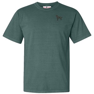1TM-Embroidered  Garment Dyed Cotton Tee Shirt embroidered with your breed.
