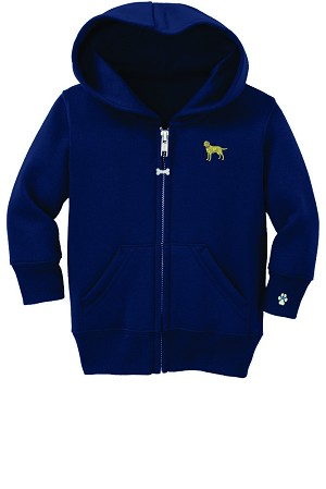 2CY-Infant embroidered Full Zip Hooded Sweatshirt.