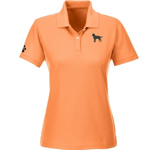 1PL-Ladies Cotton Golf Shirt embroidered with breed left chest