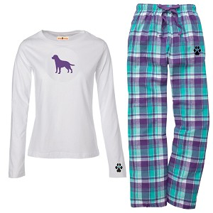 1WL-Dachshund Black Youth and Ladies Flannel and Cotton Kick Back Wear.