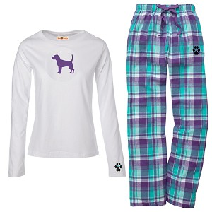 1WL-Beagle Youth and Ladies Flannel and Cotton Kick Back Wear.