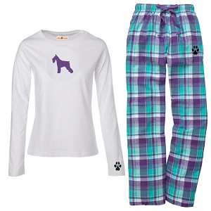 1WL-Schnauzer Youth and Ladies Flannel and Cotton Kick Back Wear.