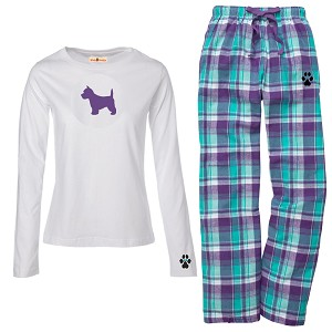 1WL-Westie Youth and Ladies Flannel and Cotton Kick Back Wear.