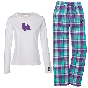 1WL-Shih-tzu Youth and Ladies Flannel and Cotton Kick Back Wear.