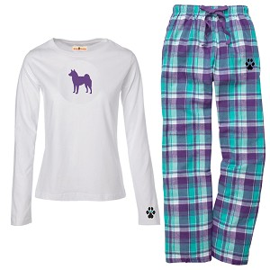 1WL-Shiba Inu Youth and Ladies Flannel and Cotton Kick Back Wear.