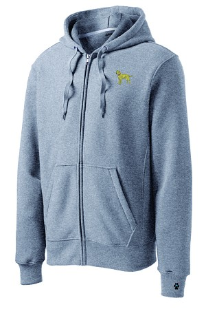 2CM-Men's Full Zip Hooded Sweatshirt with Embroidered Breed & Bone Zipper Pull