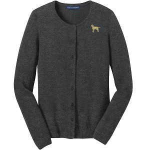 1SL-Ladies Cardigan Sweater embroidered with Your Breed.
