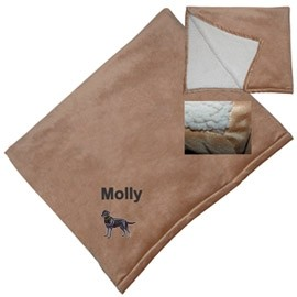 8H-Micro Mink Sherpa Throw embroidered with your breed.