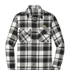 1SN-English Foxhound Men's Plaid Flannel Shirt embroidered with Your Breed