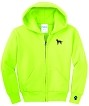 2CY-Alaskan Malamute embroidered Full Zip Hooded Sweatshirt.