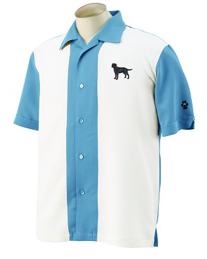 1CM-Chihuahua Men's Camp Shirt with Embroidered profile.