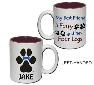 8H-15 oz Ceramic Mug with our My Best Friend is Furry design.