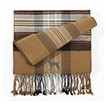 6AM-Weimaraner Men's Plaid Bamboo Muffler Scarves with Embroidered profile.