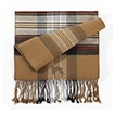 6AM-Greyhound Brindle Men's Plaid Bamboo Muffler Scarves with Embroidered profile.