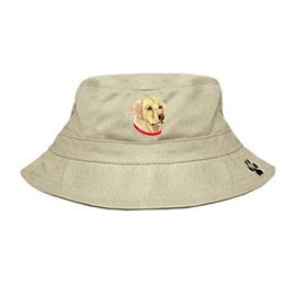 3C-Labrador Retriever Yellow Bucket with embroidered face