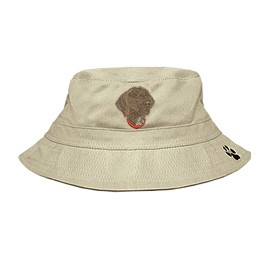 3C-German Short-Haired Pointer Bucket Hat with side zipper with embroidered face