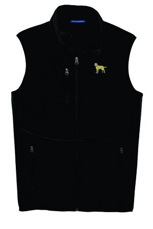 2DM-Brittany Men's fleece Vest with Bone Zipper Pull and Embroidered image