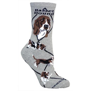 4AL-Basset Hound Cotton Ladies Socks