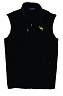 2DM-Men's Fleece Vest with Bone Zipper Pull and Embroidered image.
