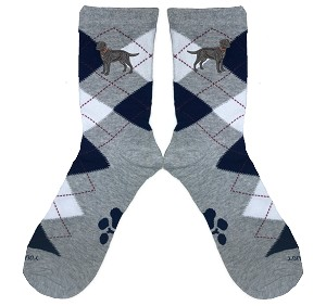 4AL-Argyle socks Embroidered with Your Breed.
