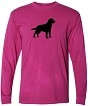 1TM- Inspired Dye Long Sleeve Crew Tee Shirt Imprinted with your breed.