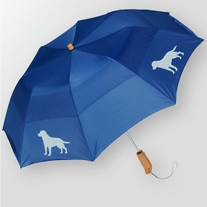 "7AL-Peerless 43"" Arc auto open folding umbrella with your breeds silhouette."